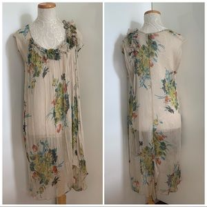 LILITH 100% Silk Gauze Dress Cover Up sz 2 Medium